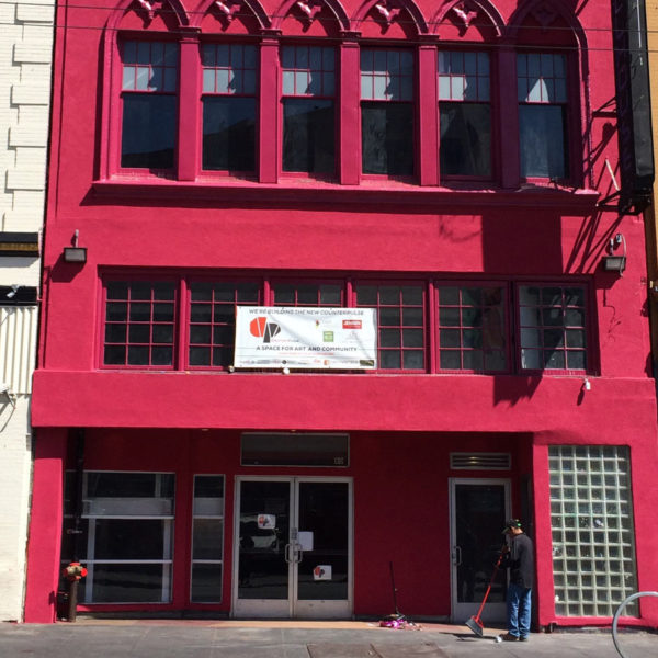 Red city building