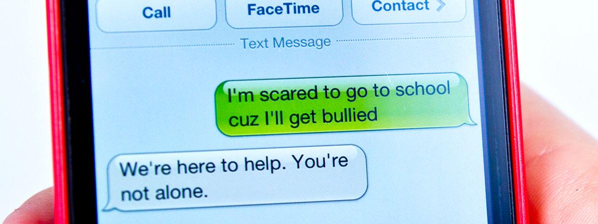 Crisis text line volunteer