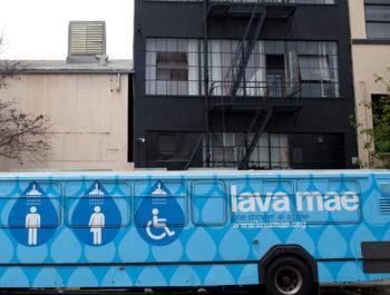 Blue Lava Mae Bus