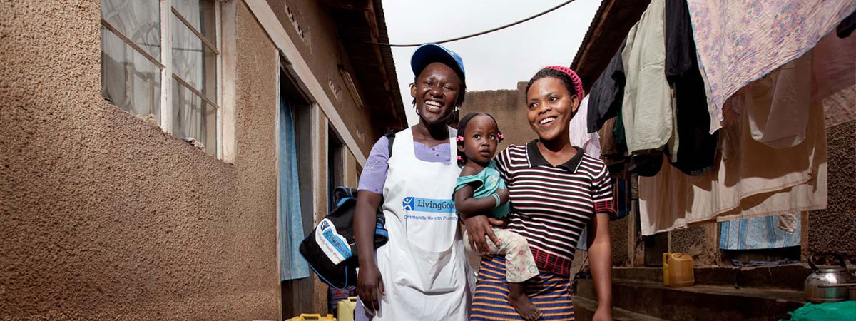 Family stranding in streets in Africa