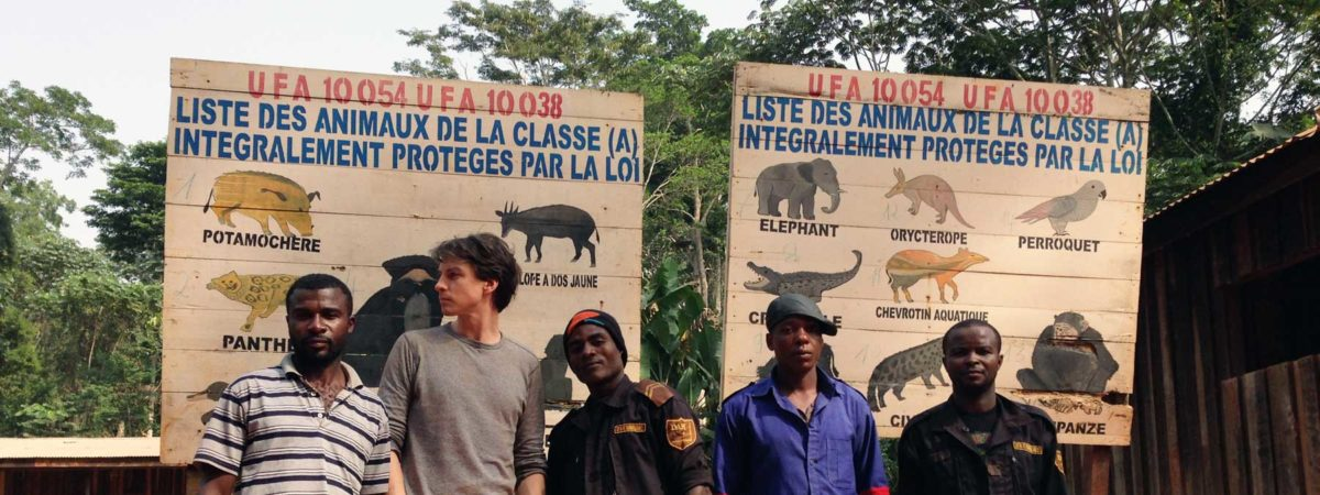 Group of rainforest protectors gathered together
