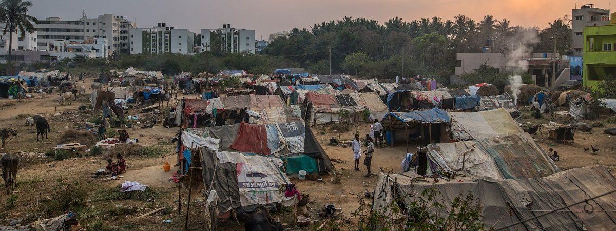 Indian slum scape