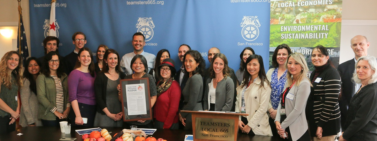 Center for Good Food Purchasing is recognized with an award