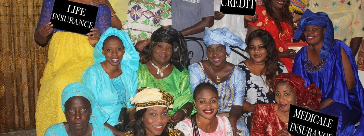 A large group of African women smile